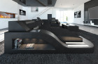 Modern Fabric Sofa Detroit with LED Lights black - Hugo 14
