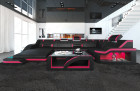 Luxury Sofa Detroit U Shaped black-pink