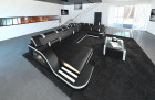Luxury Sofa Detroit U Shaped black-white