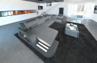 Fabric Sofa Detroit U Shape LED grey - Hugo 5
