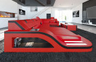 Design Sectional Sofa Detroit LED U Shape red-black