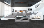 Modern Fabric Sofa Detroit with LED Lights lightgrey - Hugo 2