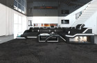 Design Sectional Sofa Detroit LED XL Shape black-white