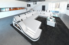 Luxury sectional Sofa Detroit XL Shaped white-black
