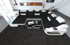 Fabric Sofa Detroit XL Shape LED black - Hugo 14