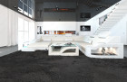 luxury fabric Sofa Detroit with LED Lights creme - Mineva 1