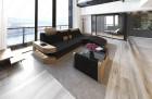 Fabric Sofa Jacksonville L Shape LED - darkgrey - Hugo 13