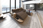 Fabric Sofa Jacksonville L Shape LED - darkbrown - Hugo 8