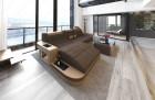 Fabric Sofa Jacksonville L Shape LED - darkbrown - Hugo 8