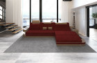 Luxury Fabric Sofa Jacksonville with LED - red - Mineva 10
