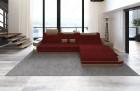 Luxury Fabric Sofa Jacksonville with LED - red - Mineva 10