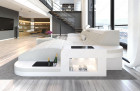 Fabric Sofa Jacksonville L Shape LED - ivory - Hugo 1