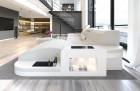 Fabric Sofa Jacksonville L Shape LED - ivory - Hugo 1