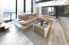 Luxury Fabric Sofa Jacksonville with LED - lightbrown - Mineva 6