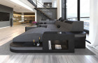 Fabric Sofa Jacksonville U Shape LED grey - Hugo 5