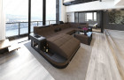 Fabric Sofa Jacksonville U Shape LED brown - Hugo 8
