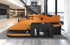 Modern Sectional Sofa Jacksonville with LED orange - Mineva 16