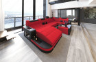 Fabric Sofa Jacksonville U Shape LED red - Mineva 20