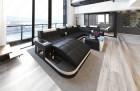 Modern Leather Sofa Jacksonville U Shape black-white