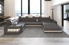 Modern Leather Sofa Jacksonville U Shape grey-white