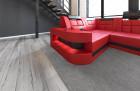 Luxury Sectional Sofa Jacksonville wirh LED red-black