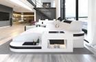 Luxury Sectional Sofa Jacksonville wirh LED white-black