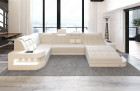 Luxury Fabric Sofa Jacksonville U Shape ivory - Hugo 1