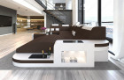 Modern Sectional Sofa Jacksonville with LED darkbrown - Mineva 7