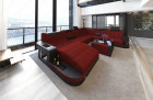 Modern Design Sofa Jacksonville XL with LED - darkred - Mineva 10