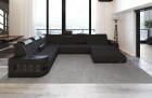 Modern Design Sofa Jacksonville XL with LED -black - Mineva 14