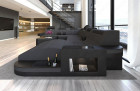 Modern Design Sofa Jacksonville XL with LED - darkgrey - Mineva 8
