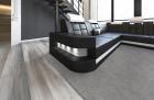 XL Sectional Sofa Jacksonville LED U Shaped black-white
