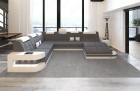 Fabric Sofa Jacksonville XL Shape LED - grey - Hugo 5