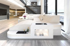 Fabric Sofa Jacksonville XL Shape LED - ivory - Mineva 1