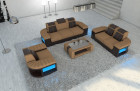 Modern Sectional Sofa Boston with LED sandbeige - Mineva 6