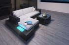 Wicker Lounge Sofa Los Angeles with Lights black-beige