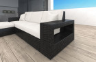 Wicker Lounge Sofa Los Angeles with Lights black-beige