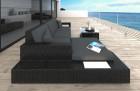 Rattan Patio Wicker Sofa Los Angeles with LED black-grey