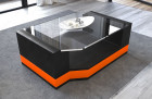 Modern Leather Coffee Table Los Angeles black-orange