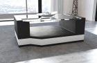 Coffee Table Leather Los Angeles black-white