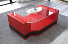 Coffee Table Leather Los Angeles red-white