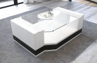 Coffee Table Leather Los Angeles white-black