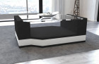 Fabric Coffee Table Los Angeles with glass plate black - Mineva 14