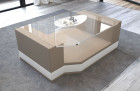 Fabric Coffee Table Los Angeles with glass plate sandbeige - Mineva 6