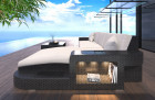 Patio Furniture Outdoor Sofa Jackonville with Lights black-beige