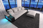Fabric Sofa Austin with LED - sand - Hugo 2