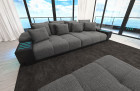 modern Fabric Sofa Austin with LED - lightgrey - Hugo 5