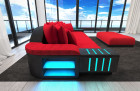 Fabric Sofa Austin with LED - red- Mineva 20