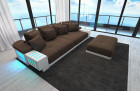 modern Fabric Sofa Austin with LED brown - Hugo 8