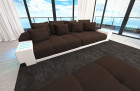 Fabric Sofa Austin with LED - brown - Mineva 7